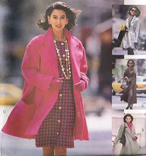 McCall's Vintage Sewing Pattern 6224 Belted Oversized Coat (M (14-16))