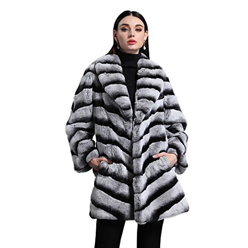 Used, Fur Story Women's Long Fur Coat with Real Rex Rabbit for sale  Delivered anywhere in USA