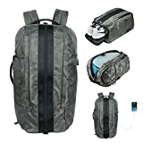 LA PAIX Gym Laptop Backpack CAMO Duffel Travel Bag Luggage Separate shoes Latop comparment USB charing por