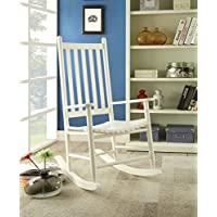 ACME Laik White Rocking Chair
