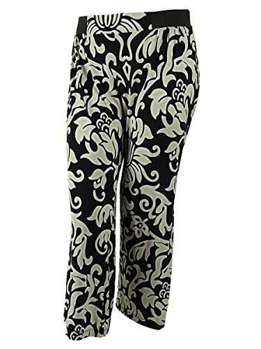 INC International Concepts Women's Elastic Waistband Pants (0X,Dream Lady)