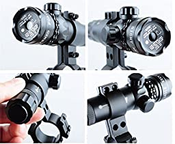 EconoLed Green 532nm Aser Sight Hunting Rifle Dot Scope with On/off Swith Picatinny/weaver Mounts + Barrel Mount