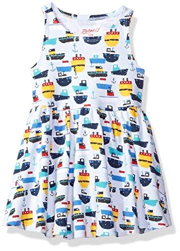 Zutano Baby Girls' Tank Dress, Ahoy, 18M (12-18 Months)
