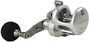 Tsunami Forged 8 Conventional Lever Drag Inshore and Offshore Saltwater Light Weight Silver Fishing Reel 5.2:1 Gear Ratio - TSFOR8LD-SI