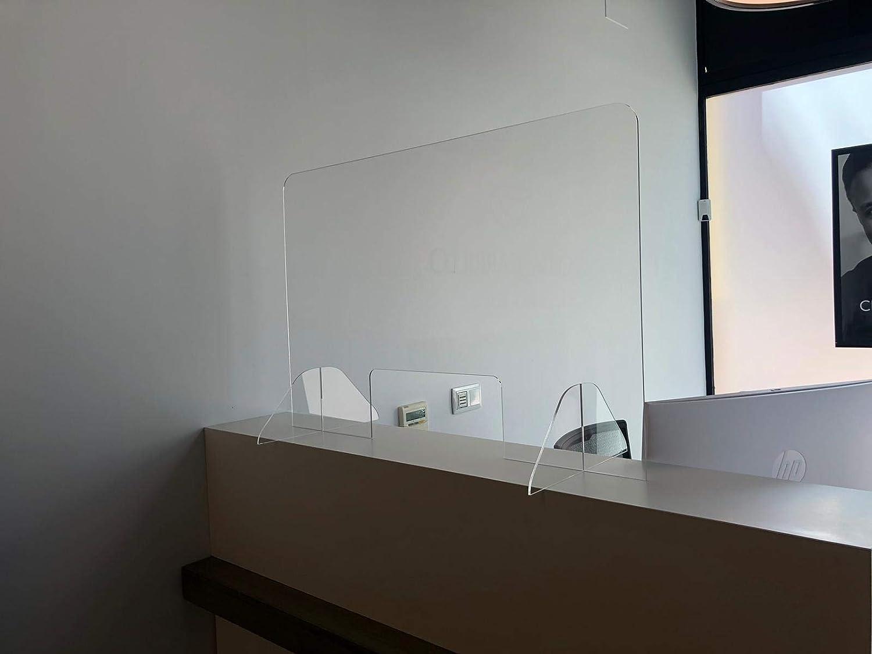 Pantalla Protección Mostrador 100x80cm - Metacrilato Transparente - Mampara para Mostradores de Tiendas - Separador Transparente Supermercados, Farmacias, Gasolineras y Comercios: Amazon.es: Bricolaje y herramientas