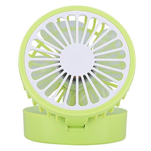 fosa Mini USB Desk Cooling Fan, Lemon Style Air Circulator Fan 3-level Adjustment Powerful Wind USB Desktop Fan for Home Office School(Green) by fosa (Image #9)