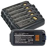 6x Exell EBS-CK3X Li-Ion 3.7V 5200mAh Batteries For Intermec CK3, CK3A. Replaces Cameron Sino CS-ICK300BX, INTERMEC 318-033-001, 318-034-001, AB17, AB18