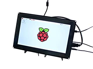 Makibes Raspberry Pi HDMI LCD capacitiva Touch Screen para Raspberry Pi 2 3 modelo B B +/PC de sistemas/BeagleBone Negro Soporte Raspbian Ubuntu Windows de 10 IOT 10 Zoll 1024*600