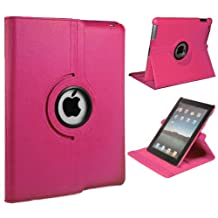 Xtra-Funky Exclusive iPad Mini 1 / 2 / 3 PU Leather 360 Degree Rotating Smart Case with Auto Wake / Sleep Function + Screen Protector and Soft Tipped Stylus - HOT PINK