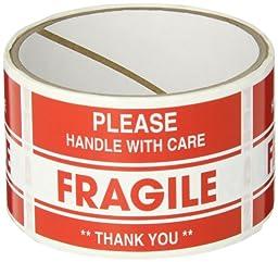 TapeCase SHIPLBL-040-50 Fragile, Thank You Label (50 Per Pack)