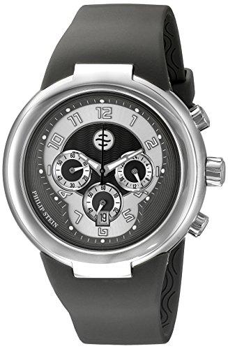 (Philip Stein Unisex 32-AGR-RBGR Active Grey Chronograph Rubber Strap)