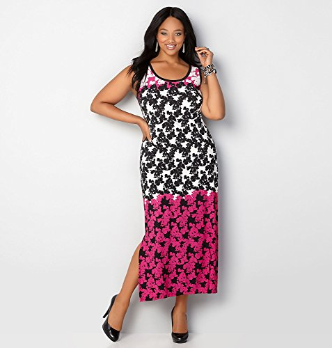 AVENUE-Womens-Ombre-Floral-Maxi-Dress