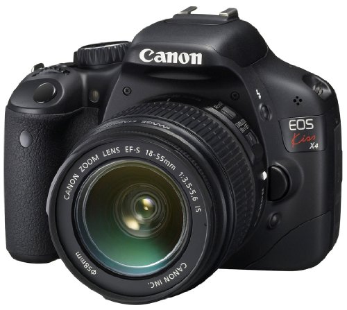 Canon EOS Kiss X4 (T2i / 550D) 18 MP CMOS APS-C Digital SLR Camera with 3 inch LCD + EF-S 18-55mm f/3.5-5.6 IS Lens (Japan Made)