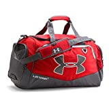 Under Armour Undeniable Duffle 2.0 Gym Bag, Red /White, Medium