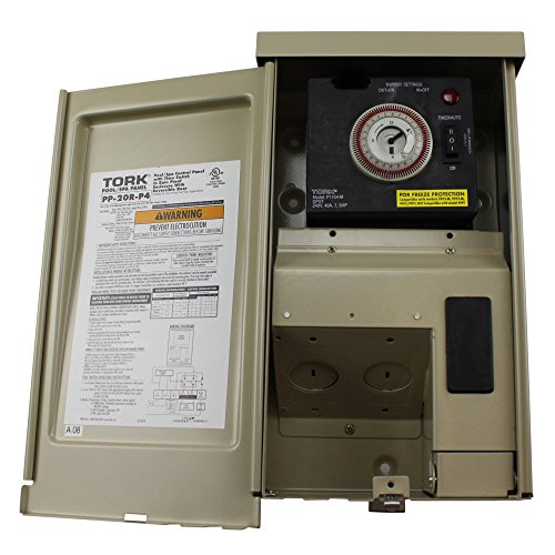 PP Panel Series Pool and Spa Control Panels with Time Swtich, (1) 240 VAC Control Input, 20 Amp, 1/2 Circuit Breaker Base by NSI