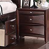 Poundex PDEX-F4556 Contemporary Nightstand, Espresso