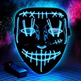 Halloween Led Purge Mask Light Up Scary Mask EL Wire Cool Costume Festival Parties Raves Unisex