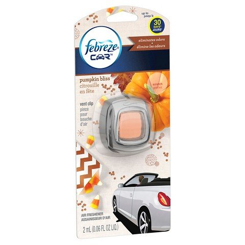 Price comparison product image Febreze Car Vent Clip, Pumpkin Bliss, 1 Piece