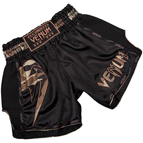 Venum Giant Muay Thai Shorts - Black/Forest Camo - M