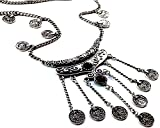 Global Huntress Bohemian Ethnic Tribal Beads Coin Fringe Necklace