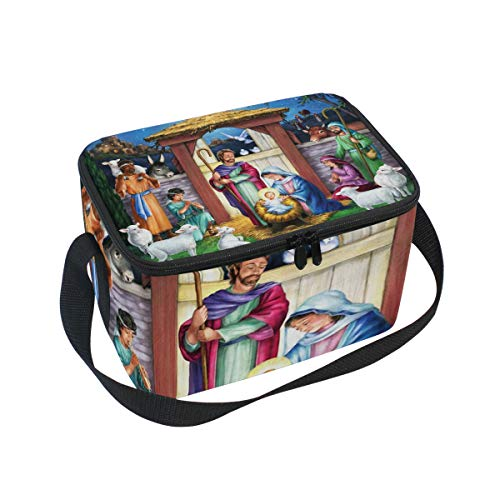 Holy Manger Lunch Box Insulated Lunch Bag Large Cooler Tote Bag Picnic School Women Men Kids