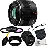 Panasonic Lumix G Micro 4/3 LEICA DG SUMMILUX 25mm f/1.4 Leica Aspherical Lens + 6 Piece Accessory Kit - International Version (No Warranty)