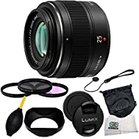 Panasonic Lumix G Micro 4/3 LEICA DG SUMMILUX 25mm f/1.4 Leica Aspherical Lens + 6 Piece Accessory Kit