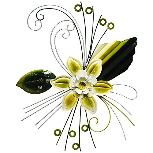 White Metal Art Flower Wall Decor