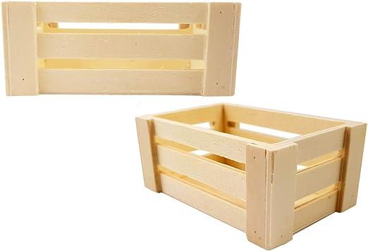 10 mini cassettine della frutta legno naturale porta confetti segnaposto (piccola 892X022)