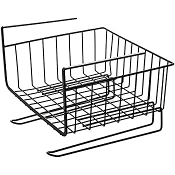 Amazon Com Under Cabinet Storage Shelf Wire Basket