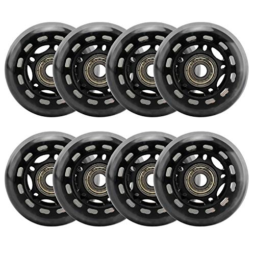 Yaegoo 64mm Inline Skate Wheels 8 Pack 64mm Skates Replacement Wheels with Bearings
