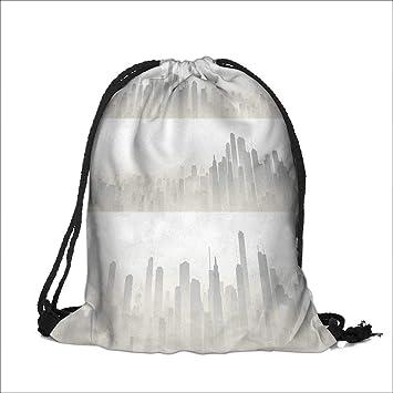 Amazon.com: Mochila con cordón de algodón y tela de lino con ...