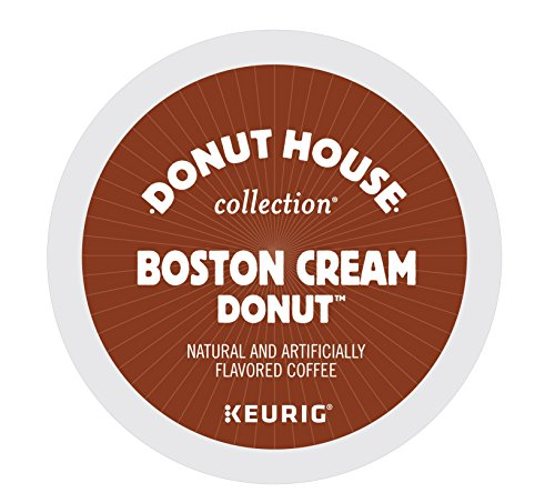 Donut House Collection Boston Cream Donut, Keurig K-Cups, Count 12, 3.9 Oz (Pack of 6) Boston Collection