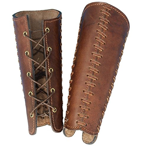 Medieval Squire Costume (Armor Venue Squires Leather Bracers - Large - Brown Armour)