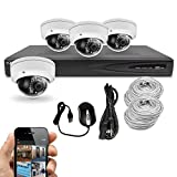 Best Vision Systems 8CH 1TB IP NVR Security Surveillance System with (4) 2MP PoE Outdoor Vandalproof Dome Cameras
