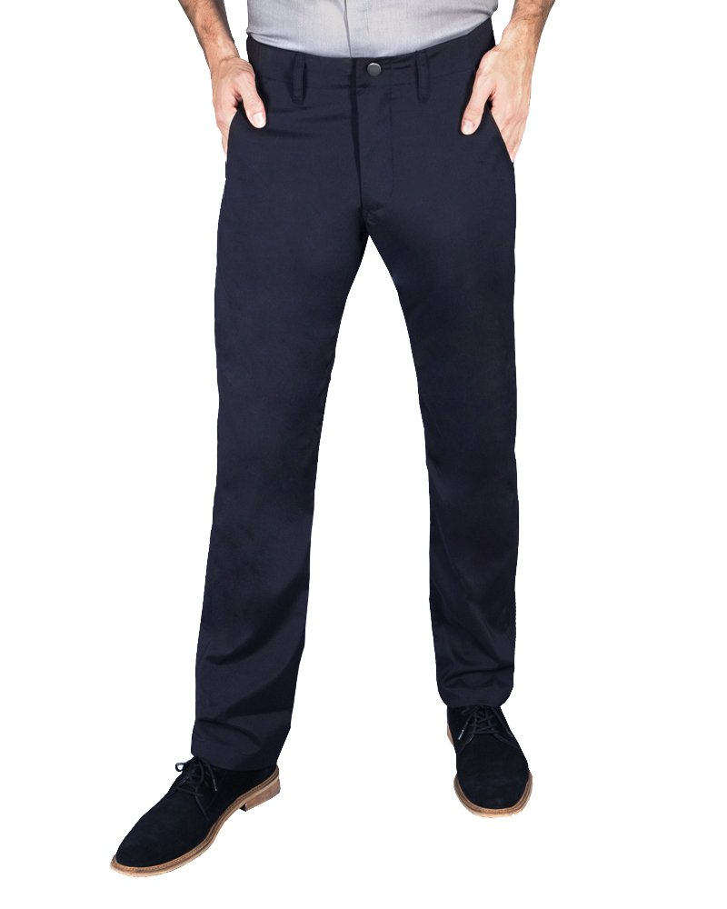 Betabrand Men's Best Travel Pants 28 x 32 Navy by Betabrand