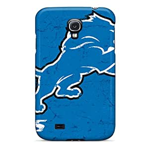 Samsung Galaxy S4 KDE12433ZoBs Custom Realistic Detroit Lions Skin Shock-Absorbing Cell-phone Hard Covers -AlissaDubois