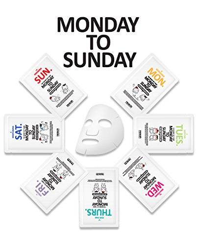 Oil Controlling Daily Moisturizer ([Monday To Sunday] One Week Treatment Sheet Mask 7pcs pack