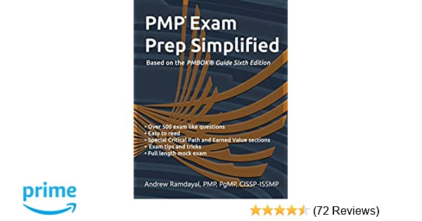 Amazon com: PMP Exam Prep Simplified: Based on PMBOK® Guide Sixth