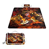 SINOVAL Forces of Nature and Abstract Art Large Picnic mat Outdoor Rug Waterproof Camping Blanket Beach mat 57X59 inches