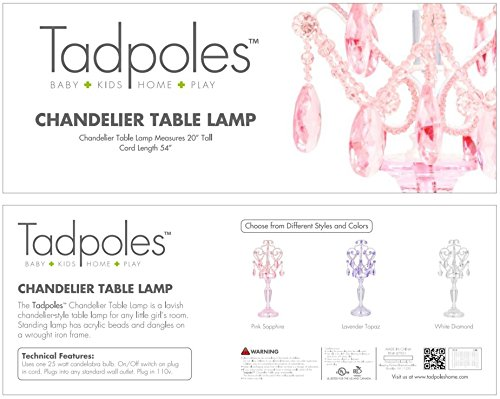 Tadpoles toys tadpoles chandelier table lamp pink sapphire amazon tadpoles toys tadpoles chandelier table lamp pink sapphire amazon baby mozeypictures Images