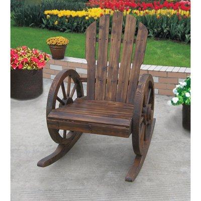 (Wagon Wheel Rocker Chair)