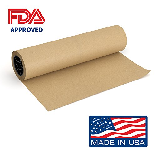 Brown Kraft Butcher Paper Roll - 18 Inch x 175 Feet (2100 Inch) - Food Grade FDA Approved – Great Smoking Wrapping Paper for Meat of all Varieties – Made (Brown Kraft Paper)