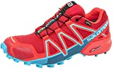 Salomon Women's Speedcross 4 GTX W Trail Running Shoe, Barbados Cherry, 8 M US