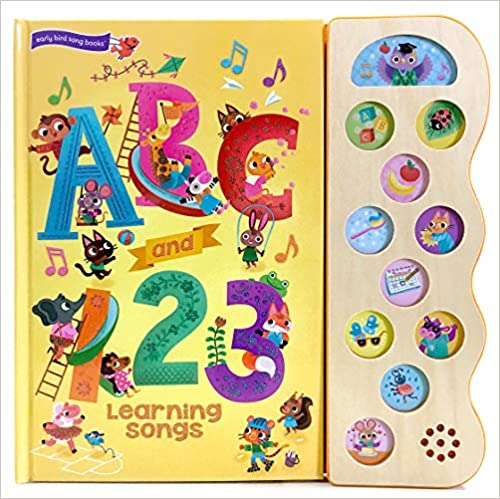 Deluxe Sound Book Wood Module ABC and 123 Learning Songs