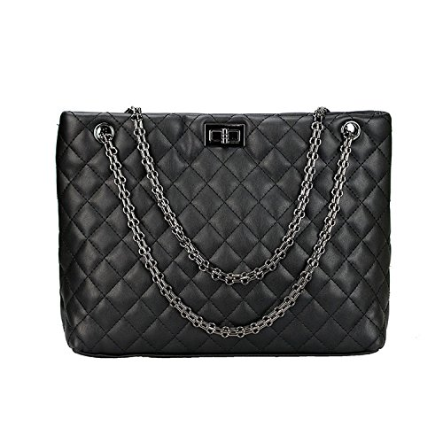 Black Quilted Handbags: Amazon.com : quilted handbag with chain strap - Adamdwight.com