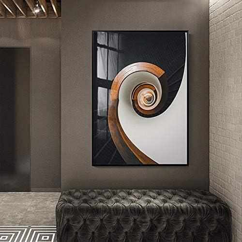 YJWOZ Salón Mural Restaurante Colgando Pintura Sofá Norte Fondo Pintura Decorativa Edificio Escalera De Caracol Pintura Naranja Cuadros Decorativos (Color : B): Amazon.es: Hogar