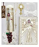 Cocochildren.com Mx-451C Mercy First Communion Candle Set