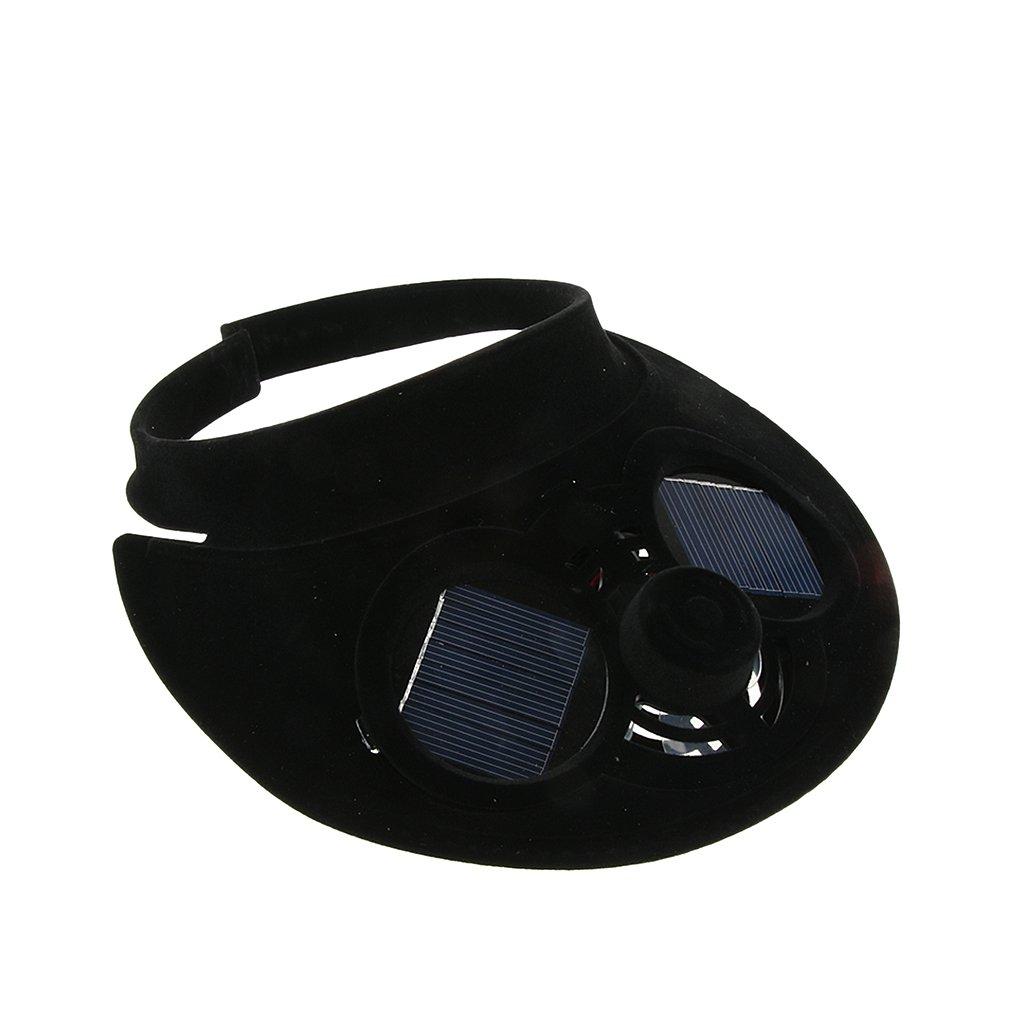 MagiDeal Tappo Solare Superiore per Esterno A Sfioro Alimentato Ad Energia Solare con Dispositivo di Raffreddamento Solare per La Pesca in Campeggio - Blu, 25.5x21x8cm