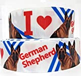 "Crazy Discount Ribbon 7/8"" I Love German Shepherd Dogs Printed"